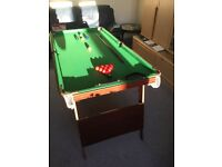 "Snooker Table - 5"" by 2""6 with accessories"