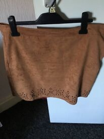 Suede skirt 16