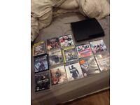 ps3 slim good condition with controller and some games also all cases needed