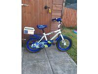 """Children's 14"""" police patrol bike"""