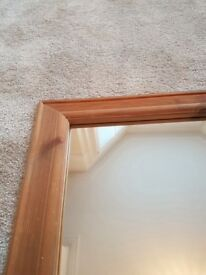 Solid wood mirror in very good condition