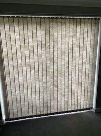Vertical Blind (Hillarys) - Grey 200cm H x 205cm W x9cm D