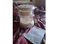 Two tier food steamer