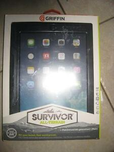 Griffin Survivor Rugged Apple Ipad 2 / 3 / 4 Case / Cover. Shock Proof. Water Proof. Screen Protector with Stand.