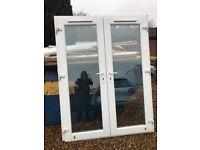 French doors upvc white glazed