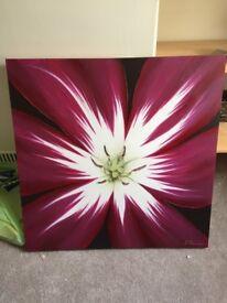 Large Picture/Canvas - Purple/flower (90cm x 90xm)
