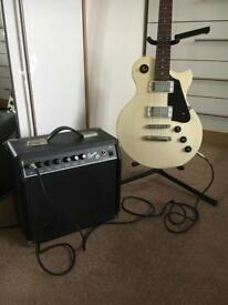 Ashton electric guitar with amp, soft case and stand- FOR SALE