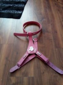 Large staff harness. Leather. Pink. Size large. £15