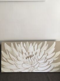 Gorgeous flower painting on canvas