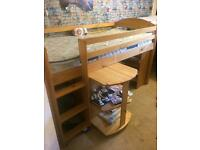 Single bed Mid sleeper with desk