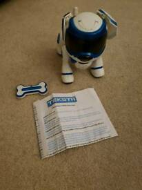 Teksta robotic puppy
