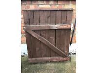 Wooden garden gate /fencing 92cm (w) 117cm (h)