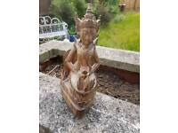 Antique wooden religious carving