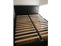 Faux leather king size ottoman bed frame