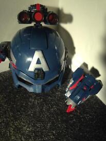 Hasbro captain America helmet winter soldier plus extras