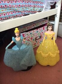 Two light up princesses £15