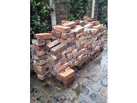 Job lot of Old Bricks for FREE (300 est'). DIY building materials