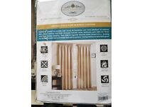 Cream Thermal/Blackout Lined Long Curtains.