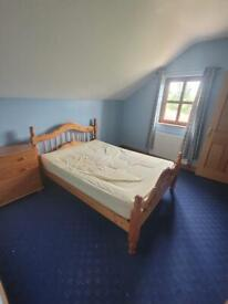 Double bed and chest of drawers