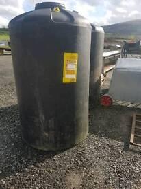 1560 litre water liquid storage tank farm garden ( tractor )