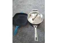 Cast iron griddle pan and creme brulee kit