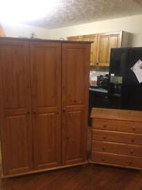 Wardrobe and drawers for sale solid pine wood bedroom furniture chest of drawers