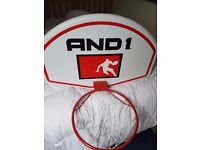 Basketball hoop.. with board and net