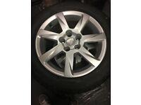 4 x alloy wheels & tyres & locking bolts