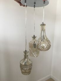 Shan't Chic Glass 3 tier light