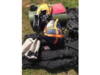 Traveling back pack equipment