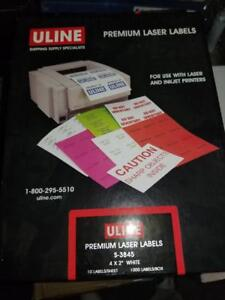 Uline Laser Labels - 42 Boxes Available - Bulk Lot - Only $499!
