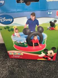 Mickey Mouse bouncy castle used one in box