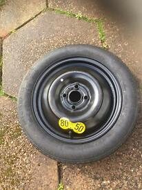 Space saver spare wheel never used