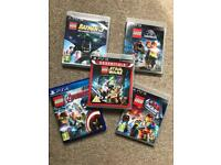 5x Lego PS3 Games