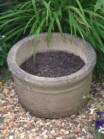 Three sandford stone large garden planters