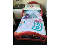 Red Lightning McQueen Toddler Bed