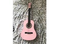 Herald pink guitar