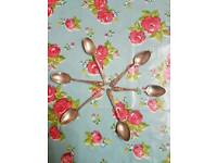 Silver plated spoons by Harrison Brothers and Howson of Sheffield