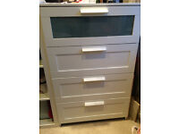 IKEA BRIMNES Chest of 4 Drawers- 2 available.