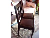 Pair of lovely vintage ladies chairs for dining or bedroom