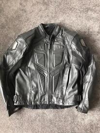 Wolf leather jacket
