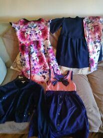 GIRLS TED BAKER DRESS AGE 8,LEGGING SET 8/9. JASPER CONRAN CARDIGAN 8/9, TOMMY HILFIGER DRESS 6/7