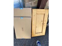 Brand New Solid Pine hob door - see picture for size