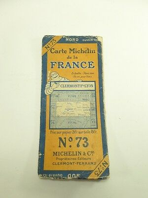 Card Michelin #73 Clermont-Fd/Lyon 1925 / Collector Bibendum that (Diary of a