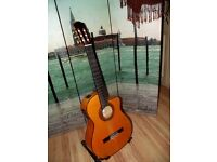cordoba 45fce nylon string electro acoustic giutar, built in tuner and pickup +gig bag