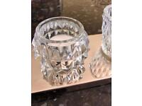 Six Piece Crystal Candle Light Decoration