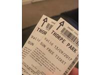 Thorpe Park Tickets +2