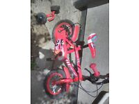"12"" halfords fire chief bike. Comes with stabilisers"