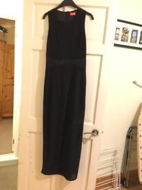 Size 10 full length black oasis dress