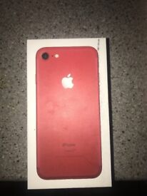 Red iPhone 7 64gb